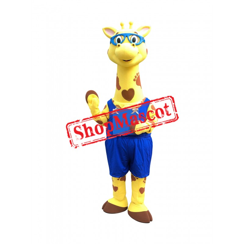 Superb Lovely Giraffe Mascot Costume