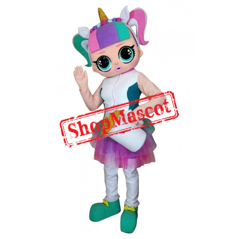 LOL Doll Unicorn Mascot Costume