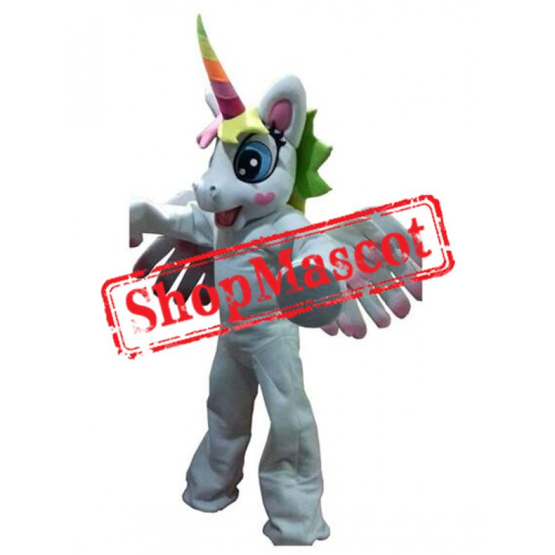 Friendly Unicorn Mascot Costume