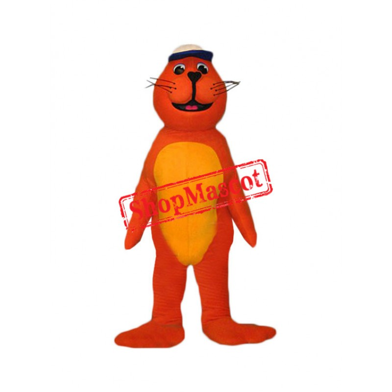 Orange Seal Mascot Costume