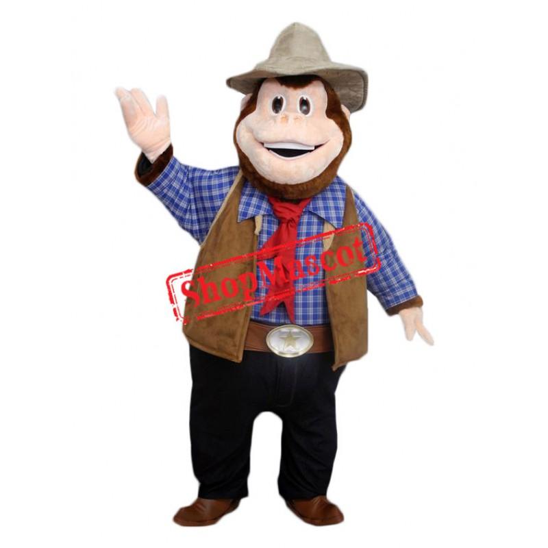 Sheriff Monkey Mascot Costume