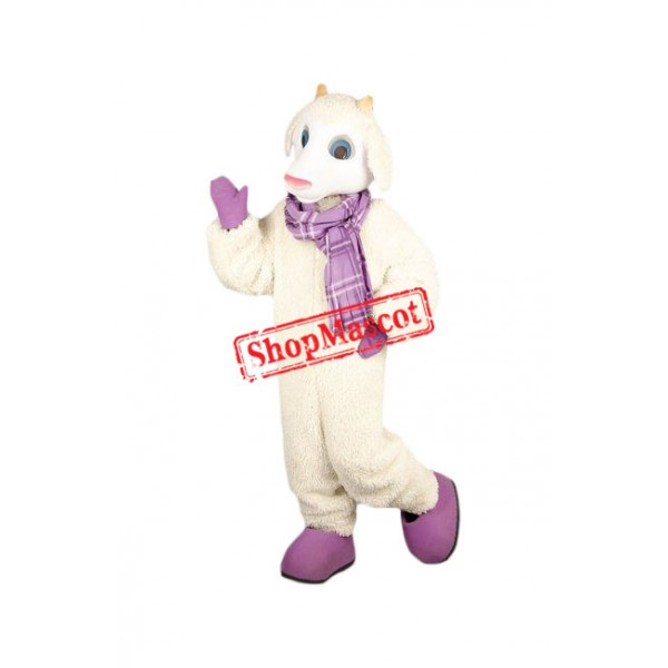 Superb Friendly Sheep Mascot Costume