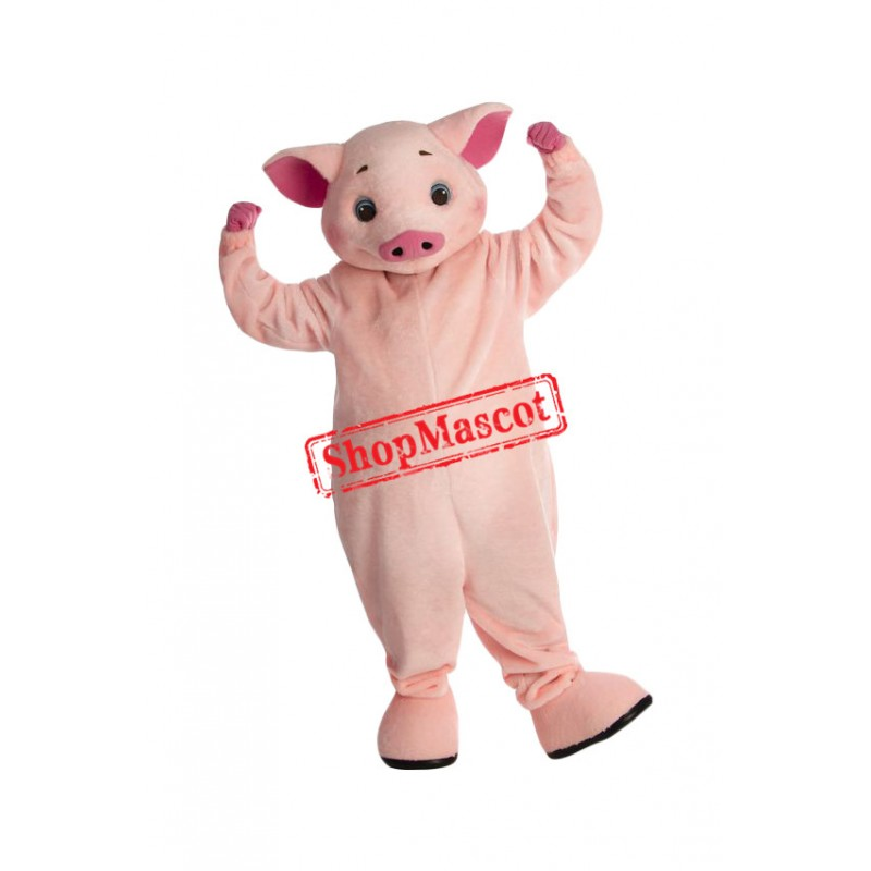 Lovely Lightweight Pink Pig Mascot Costume