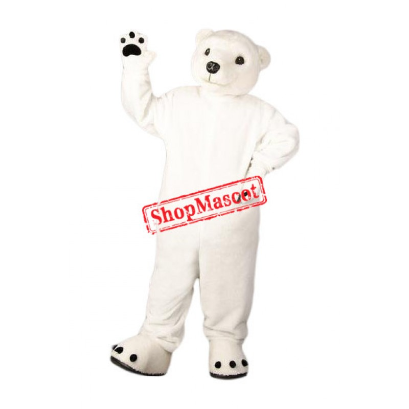 Superb Friendly Polar Bear Mascot Costume