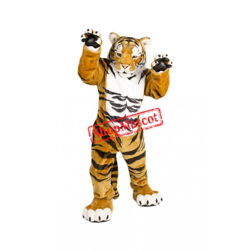 Superb Lightweight Power Tiger Mascot Costume