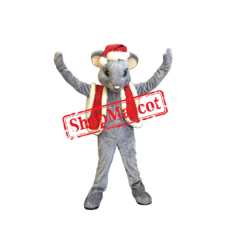Lovely Christmas Mouse Mascot Costume