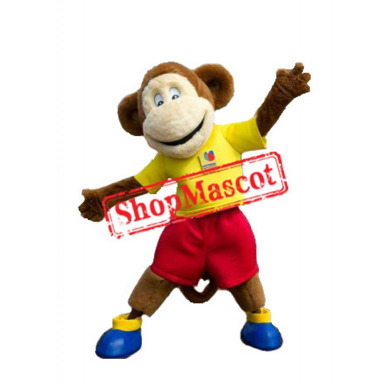 Superb Happy Monkey Mascot Costume
