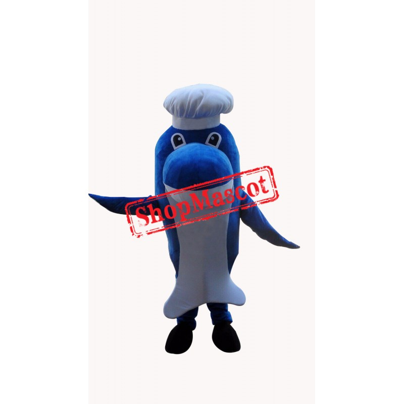 Affordable Chef Dolphin Mascot Costume