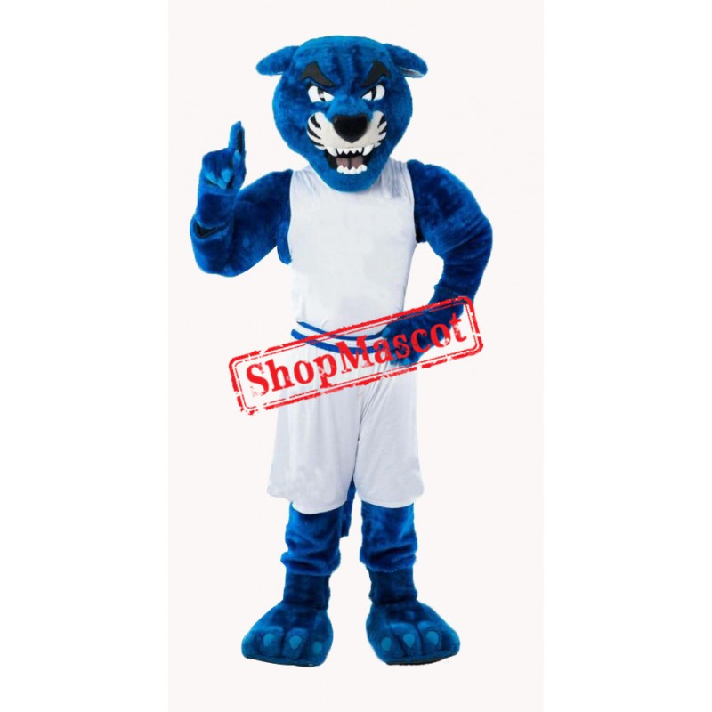Sport Blue Panther Mascot Costume