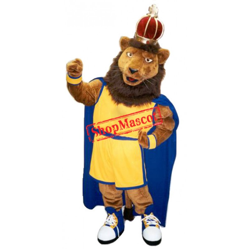 Power Muscular King Lion Mascot Costume