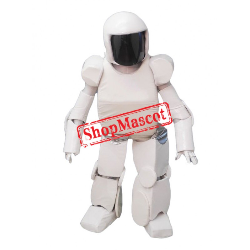 Superb White Robot Mascot Costume