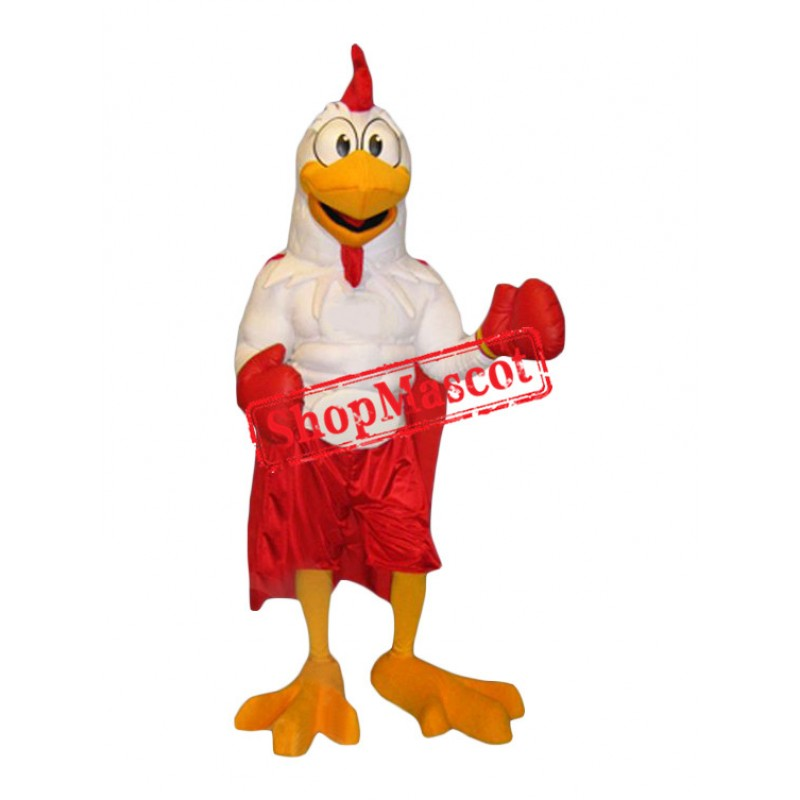 Boxer Chicken Mascot Costume