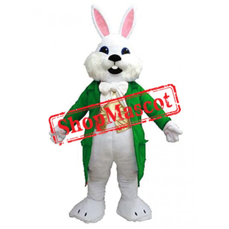 Green Suit Easter Bunny Mascot Costume Available In US Warehouse