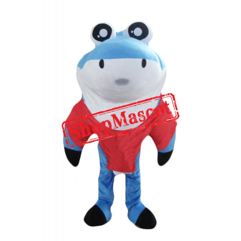 Super Cute Blue Shark Mascot Costume