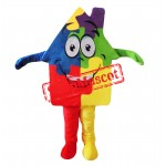 Colorful House Mascot Costume