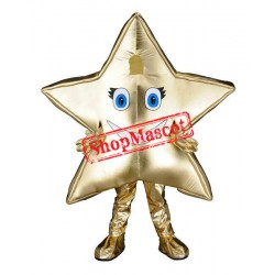 Top Quality Golden Star Mascot Costume