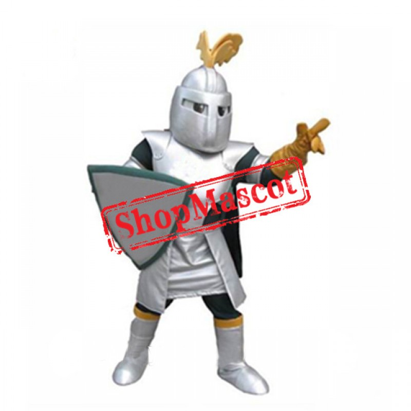 Sliver College Knight Mascot Costume