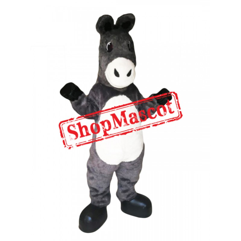 High Quality Gray Donkey Mascot Costume