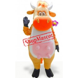 Yellow Cow Mascot Costume
