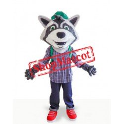 College Lightweight Raccoon Mascot Costume