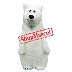 Super Cute Polar Bear Mascot Costume
