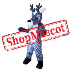 Grey Deer Mascot Costume