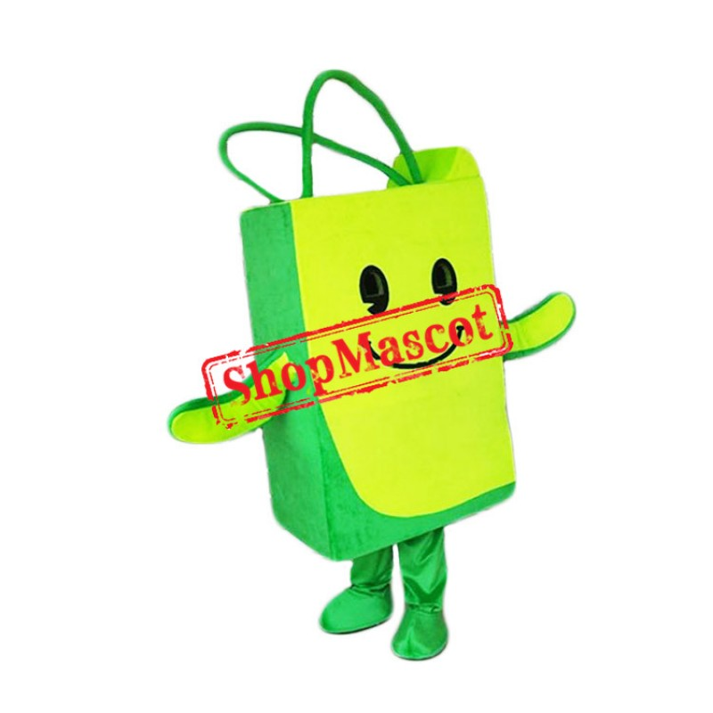 Green Bag Mascot Costume