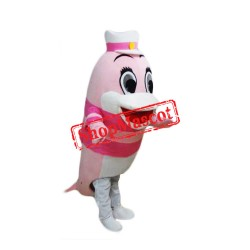 Cartoon Dolphin Carnival Mascot Costume