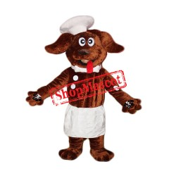 High Quality Chef Dog Mascot Costume