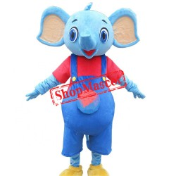 Little Blue Elephant Mascot Costume