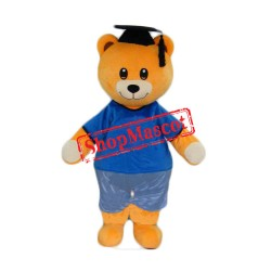 Graduation Doctor Bear Mascot Costume
