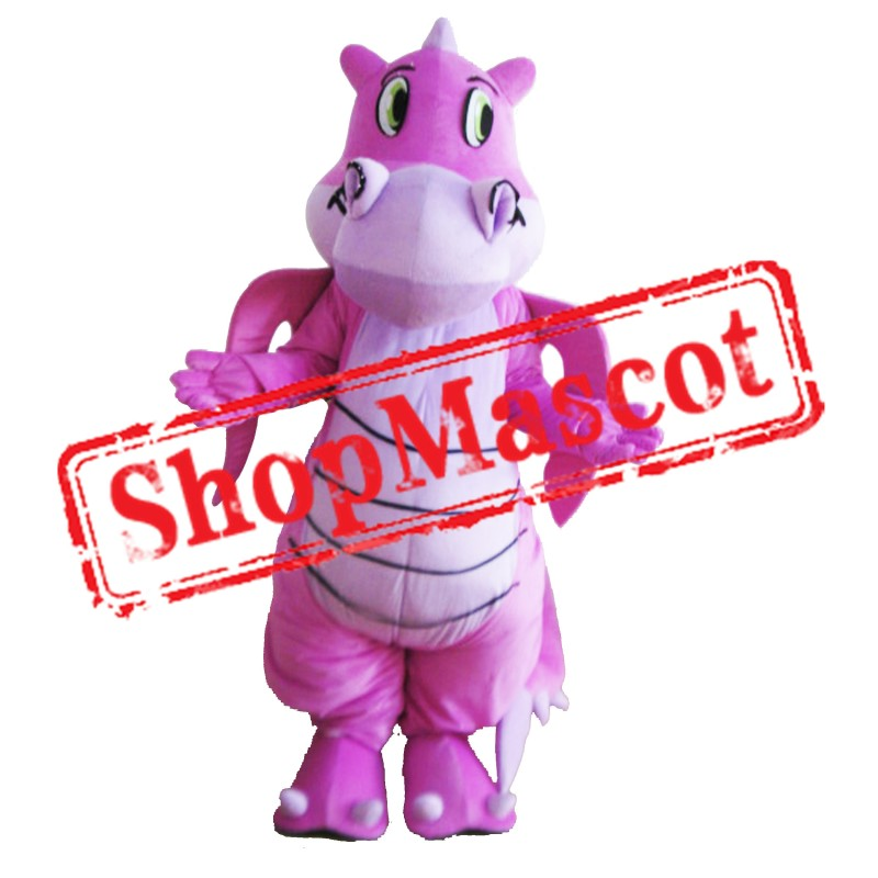 Pink Lightweight Dragon Mascot Costume