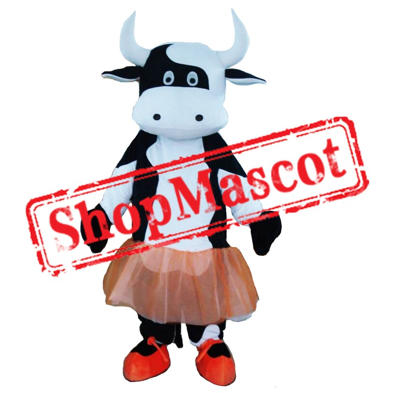 Ballet Dress Cow Mascot Costume