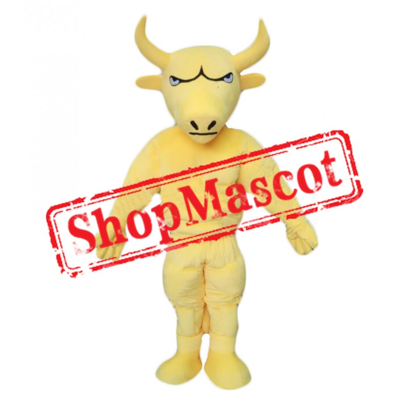 Power Yellow Bull Mascot Costume