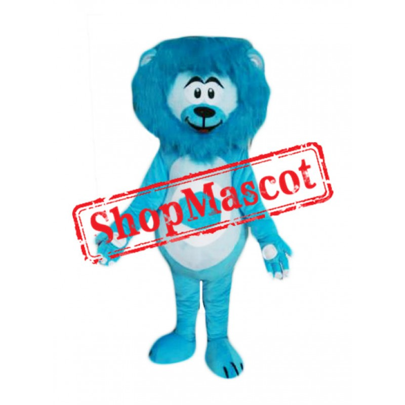 Cheap Blue Lightweight Lion Mascot Costume