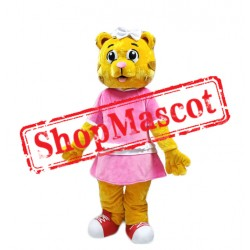 Female Daniel Tiger Mascot Costume