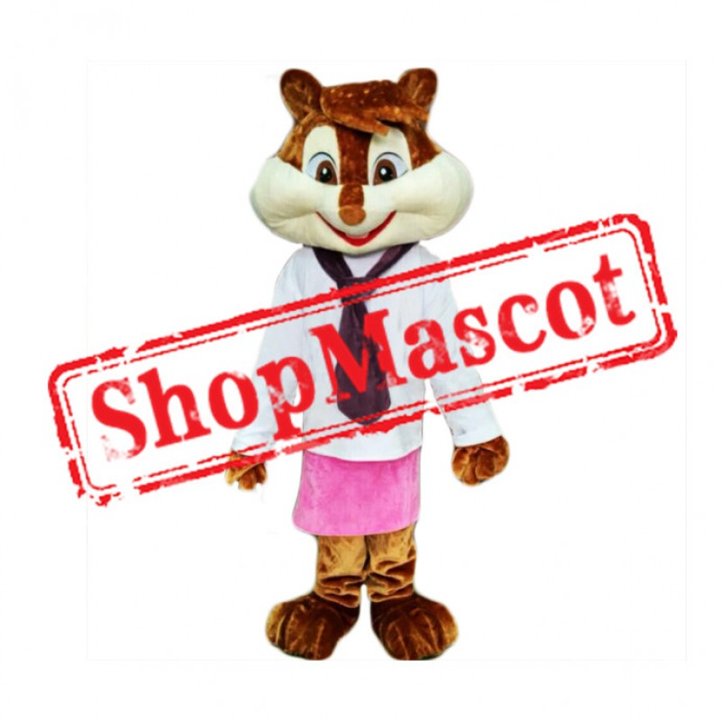 Lady Chipmunk Mascot Costume