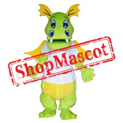 Happy Lightweight Green Dragon Mascot Costume Free Shipping