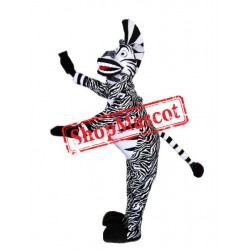 Happy Lightweight Zebra Mascot Costume Free Shipping