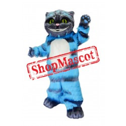 Super Cute Blue Cat Mascot Costume