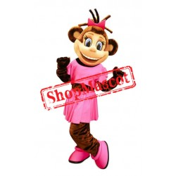 Female Monkey Mascot Costume