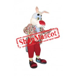 Red Nose Rabbit Mascot Costume