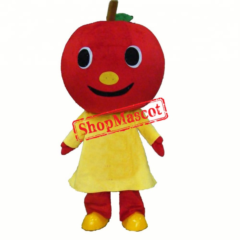 Smile Red Apple Mascot Costume