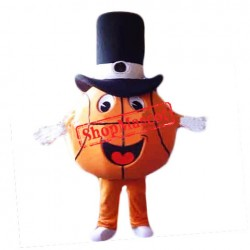 Happy Lightweight Basketball Mascot Costume