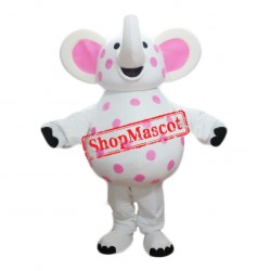 Pink Spotted Mascot Costume