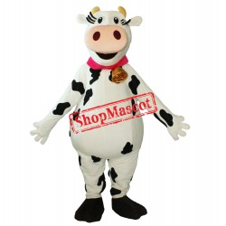 Happy Lightweight Milk Cow Mascot Costume