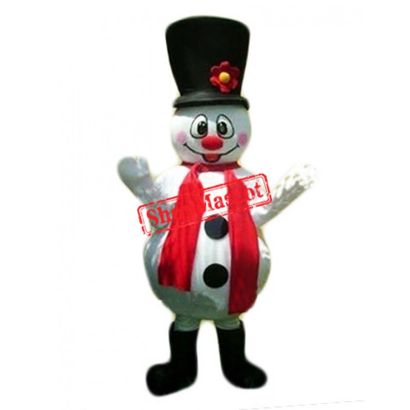 Cheap Christmas Snowman Mascot Costume