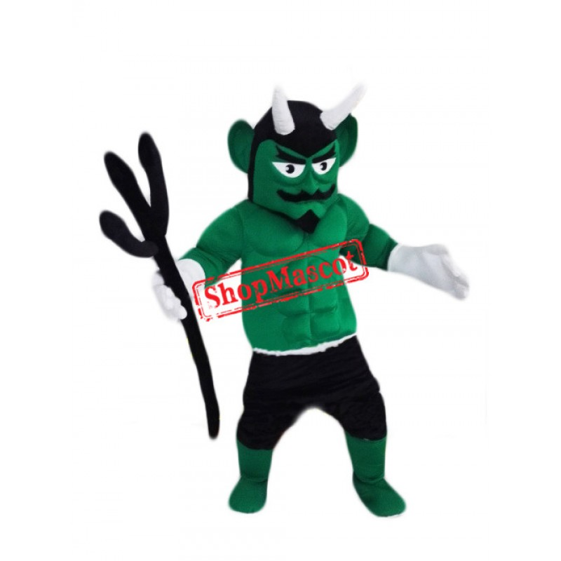 Top Quality Green Devil Mascot Costume