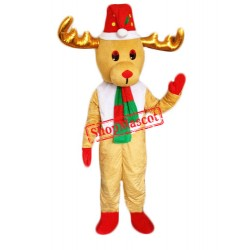 Cheap Christmas Reindeer Mascot Costume