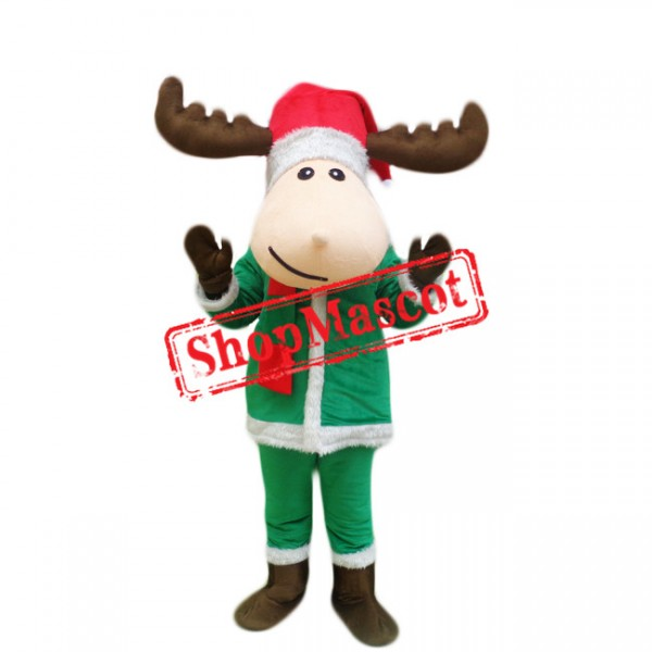 Cheap Christmas Deer Mascot Costume